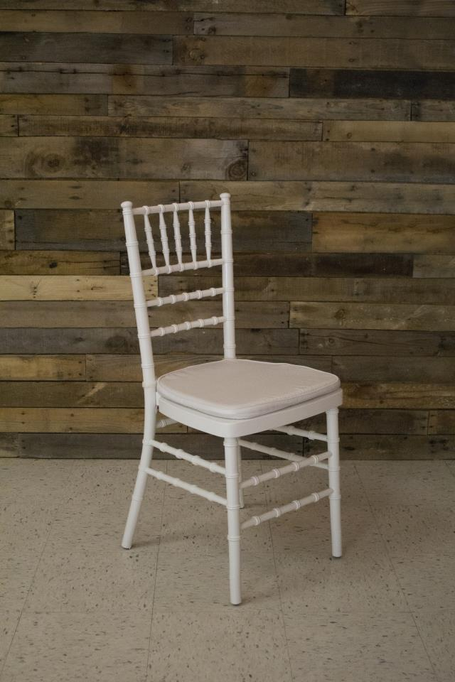 Where to find CHAIR, WHITE CHIAVARI WITH PAD in Raleigh