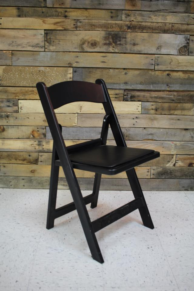 Where to find CHAIR, BLACK WITH PADDED SEAT in Raleigh