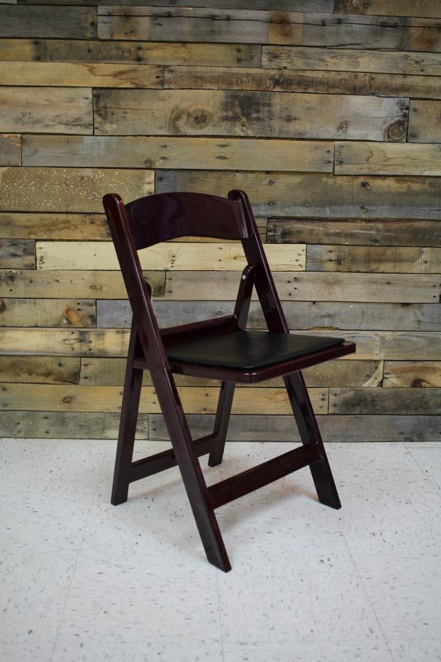 Where to find CHAIR, MAHOGANY RESIN W  PADDED SEAT in Raleigh