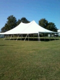 Rental store for 40 X 60   POLE TENT, WHITE-TT in Raleigh NC