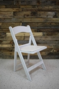 Rental store for CHAIR, WHITE WITH PADDED SEAT in Raleigh NC